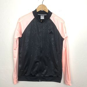 Adidas Women's Pink Black Exercise Sweater Size S